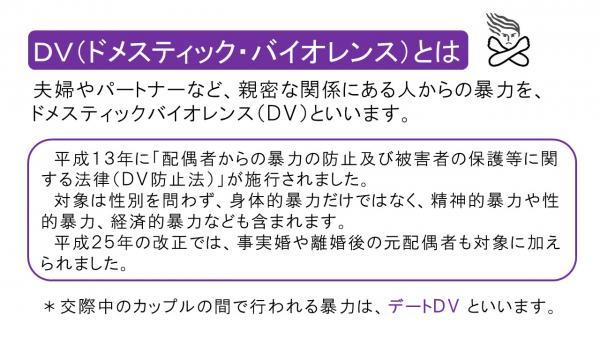 『DVとは』の画像