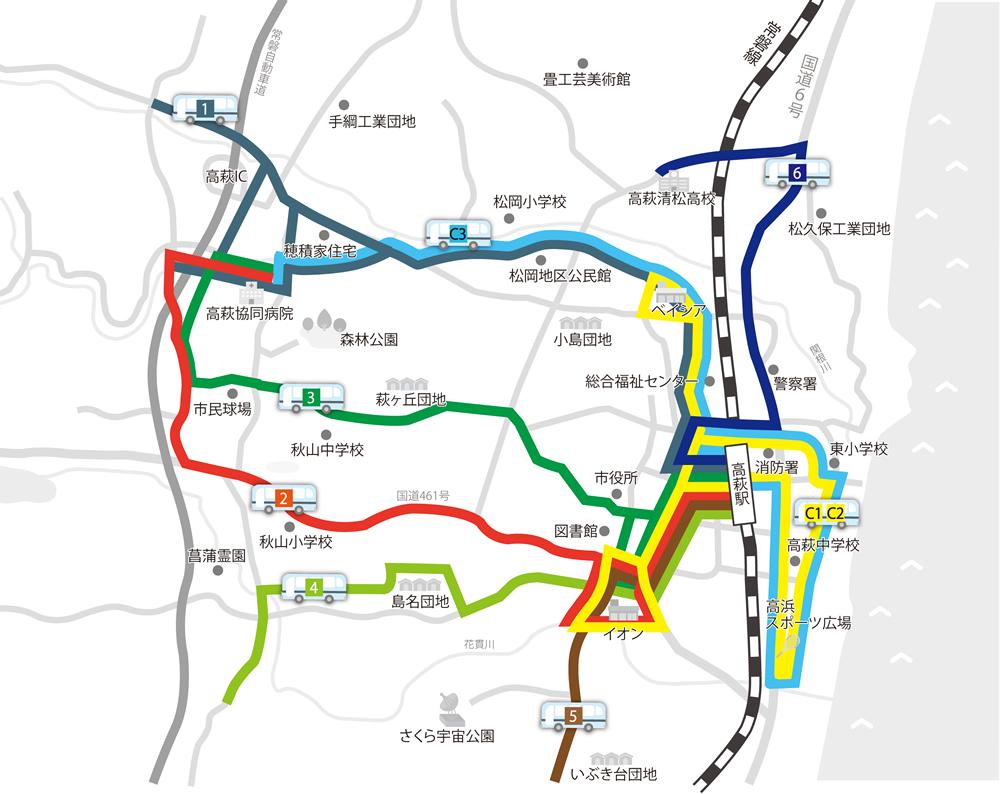 『公共交通 市街地拡大図』の画像