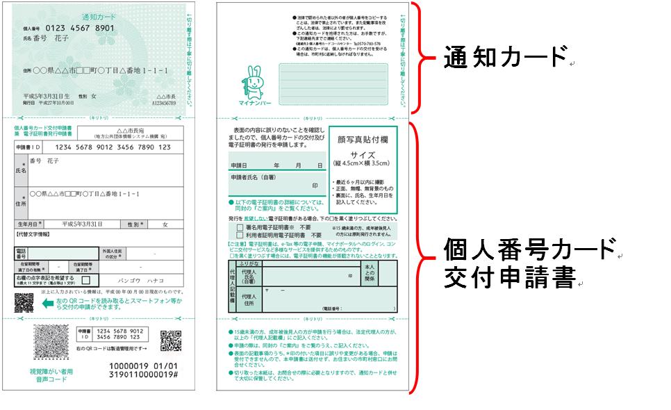 『通知カード送付』の画像